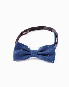 Dress him up. Silk Polka Dot Bow Tie from RW & Co.