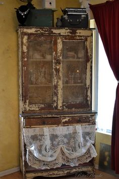 Old Cabinet w/ glass doors*