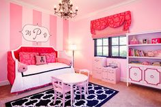 Eloise at the Plaza Inspired Toddler Room by Beach Bungalow Designs Toddler Rooms, Kids Rooms, Diy Bed, Little Girl Rooms, Girls Bedroom, Bedrooms, New Room, Bungalow Designs, Home Remodeling