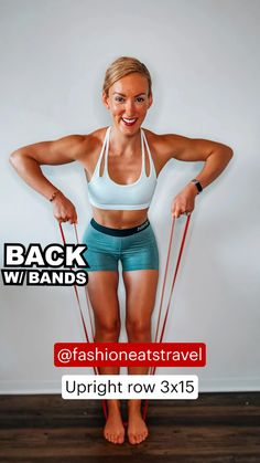 Back Fat Workout, Back Workout Women, Fitness Workout For Women, Butt Workout, Fat Burning Workout, Fitness Workouts, Easy Workouts, Fitness Tips, Fitness Motivation