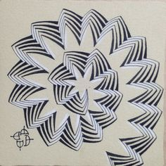 Check out the white in the shadowing Tangle Doodle, Doodles Zentangles, Zen Doodle, Doodle Art, Zentangle Patterns, Doodle Patterns, Zentangle Art Ideas, Zen Design, Geometric Art