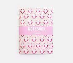 Fox Notebook Pink by SketchInc on Etsy