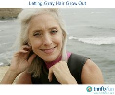 This is a guide about letting gray hair grow out. Some women, after dyeing their hair for years decide to go natural. Green Hair, Blue Hair, Lilac Hair, Pastel Hair, Grey Dye, Gray Hair Growing Out, Makeup For Older Women, Wide Face, Silver Grey Hair