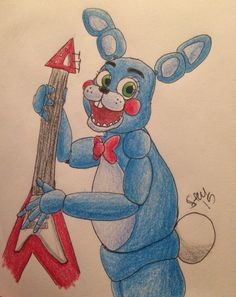 Toy Bonnie, right up! Coloring job was so-so, but original Bonnie's up next!<<< wow really good!!