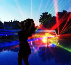 Lasershow mit 3D Wasserprojektion – Dancing by the Pool