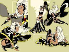 Storm - X-men - Female Marvel Superhero Comic Book Artists, Comic Book Characters, Comic Artist, Marvel Characters, Comic Books Art, Marvel Comic Universe, Marvel Comics Art, Anime Comics, Cosmic Comics