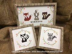 Fox Builder Punch & Foxy Friends Stamp set .