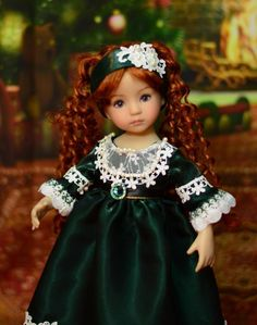 """""""Holiday Dinner"""" Regency Dress, Outfit, Clothes for 13"""" Effner Little Darling"""