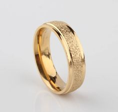 Find More Rings Information about Trendy Jewelry Golden Plated Dull Polish Titanium Stainless Steel Women Rings 6mm,High Quality jewelry making ring,China ring mold jewelry Suppliers, Cheap ring stand jewelry from Chinese Jewelry Factory,Wholesale From Yiwu China on Aliexpress.com