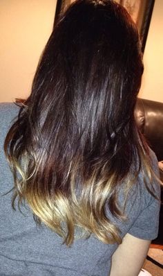 Brown to blonde ombré balayage