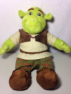 "BUILD A BEAR Shrek The Third Doll Plush Stuffed Animal Toy WITH Clothes 17"" #BuildaBear #AllOccasion"