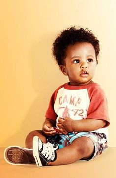 Cute shorts and tee combo for the little man!