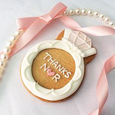 DREAM IN PINK wedding ring icing cookie
