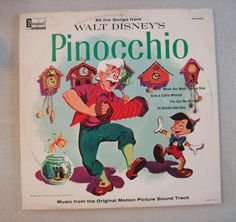 Walt Disney's Pinocchio Music from Original Motion Picture Disneyland Record LP