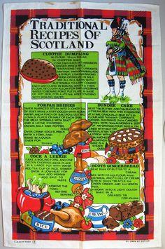 Traditional Recipes of Scotland vintage tea towel, $5 CAD from TMCanada