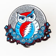 Amazing Grateful Dead Pins by Little Hippie.  Officially Licensed Artwork by Taylor Swope ~ https://littlehippie.com/body_styles/44-Pins/detail