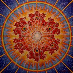Blue Red Mandala