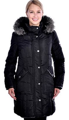 844dcbb77a09 RedX Canada Women's Parka Winter Down Coat with Faux Fur Lined Hood Black  Large Down Parka