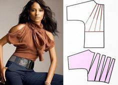 Moda e Dicas de Costura: TRANSFORMAÇÃO DE BLUSA -1