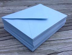 50 Baby Blue A7 5x7 Invitation or A1 4Bar RSVP by SEEDInvites