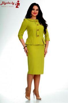 Nadin-H 1372 salada Short African Dresses, Latest African Fashion Dresses, Long Denim Dress, Office Outfits Women, Dress Outfits, Fashion Outfits, Skirt Suit Set, Womens Dress Suits, Classy Dress