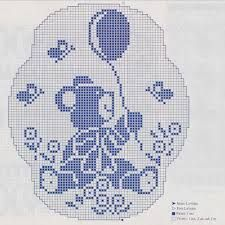 Risultati immagini per schemi copertine neonato uncinetto filet
