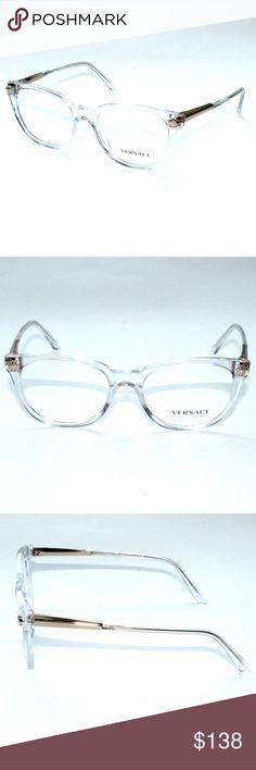 a184bebb4cc Versace Eyeglasses 3242 148 52 18 140 Transparent Brand new 100% authentic  Versace Eyeglasses
