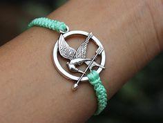 Mockingjay bracelet catching fire bracelet Hunger by KiwiGift, $8.99 OMG I'm in love