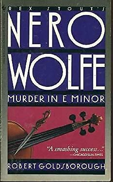 Murder in E Minor by Goldsborough, Robert Rex Stout, Paperback Books, Learning, Ebay, Studying, Teaching