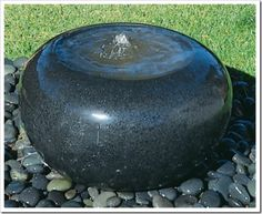 Polished Rock Bubbling Fountain