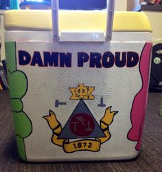 Fraternity Cooler. Phi Sigma Kappa Crest.