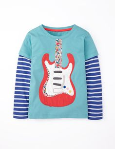 Rock Appliqué T-shirt
