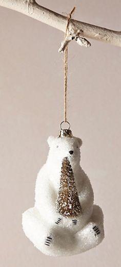 adorable polar bear ornament #anthrofave http://rstyle.me/n/s29utpdpe