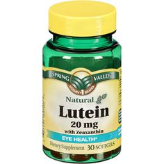 Lutein Is SOOO important to eye health. Zeaxanthin (which is included in this supplement) is also very important. This can be found at Walmart for under $7.