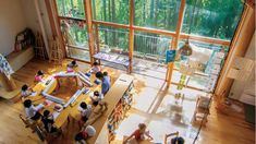 Wooded oasis: Architect Ben Nakamura designed Nanasawa Kibounooka Elementary School, which is located in a forested setting in Kanagawa Prefecture. The school uses solar panels and natural lighting to cut down on its carbon footprint.