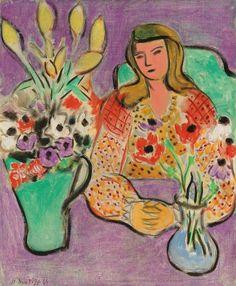 """Henri Matisse.  """"Jeune fille aux anémones"""" 1944"""