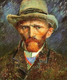 Self Portrait with a Grey Felt Hat, 1887-Vincent van Gogh, via Flickr.