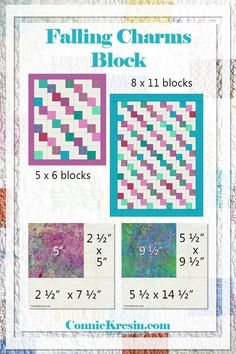 Falling charms quilt block can use a charm pack use your quilt scraps Quick and Easy quilt block tutorial #charmsquare #quilt #quilttutorial #printable