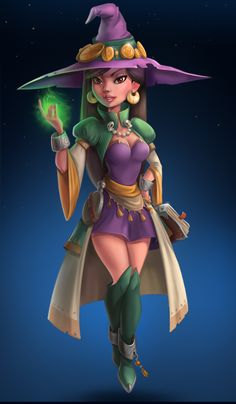 witch on Behance