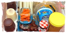 Lunchbox packing station - great ideas for packing healthy lunches fast!