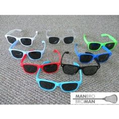 Manbro Broman Polarized Sunglasses (Color=Clear) by Manbro. $9.99. These are the sunglasses all the lacrosse players are wearing. They not only feature great colors they have the MANBRO BROMAN lacrosse image on the left arm of the sunglasses. You can see the logo at the bottom of the item image.These sunglasses featured polarized black lenses. The Manbro logo is white on all of the sunglasses except the white and clear which have a black logo.WARNING: These sunglasses ...