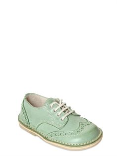 EQUERRY - VINTAGE EFFECT LEATHER OXFORD SHOES