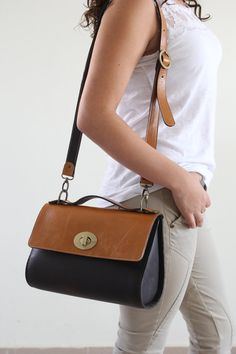 Leather bag tote bag women bag brown camel by KishaDesigns on Etsy, $250.00