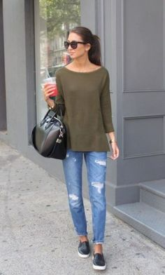 spring look slip on shoes-  Casual outfits ideas with slip on shoes http://www.justtrendygirls.com/casual-outfits-ideas-with-slip-on-shoes/