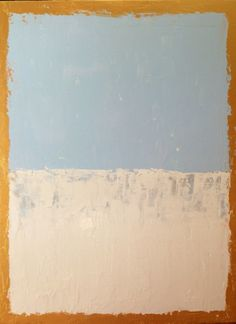 Pastel Abstract Painting 18x24 Gold, White, Pastel Blue