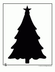 christmas tree silhouette 231x300 Printable Christmas Templates, Shapes and Silhouettes