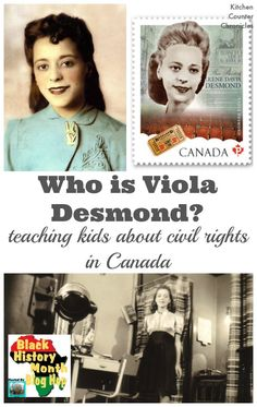 Who is Viola Desmond? Teaching Kids About Civil Rights in Canada - Who is Viola Desmond – Teaching kids about the history of civil rights in Canada through the stor - Black History Month Activities, History For Kids, Women In History, African History, History Classroom, Teaching History, Teaching Kids, College Teaching, Primary Teaching