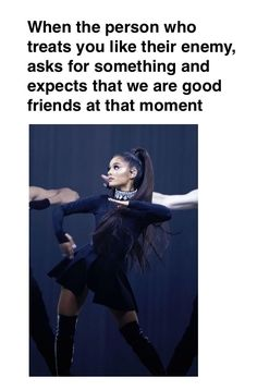 Ariana Grande Meme ....... know who are your real friends, know who are not. But treat everyone like they are still your friends, even if they are like your enemies. Choose LOVE, not hate. Is hard because you are like kill yourself towards your enemy. //@sabaribello