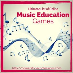 One humongous list of free online music education games organized by aural training composers composition instruments notation symbolsvocabulary and variety Music Websites, Online Music Lessons, Music Online, Online Games, Kids Online, Music Education Games, Music Activities, Physical Education, Health Education