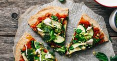 This pizza ain't an ordinary one, but a vegan and gluten-free chia pizza with cashew cheese and avocado pesto. So much goodness in one bite.